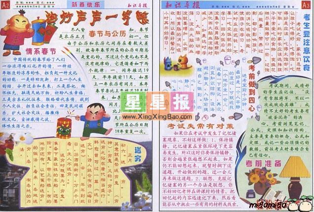 电子小报排版 新年快乐
