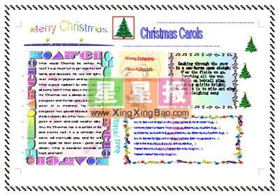 英语电子小报《MerryChristmas》