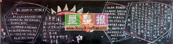 正月十五中秋节黑板报