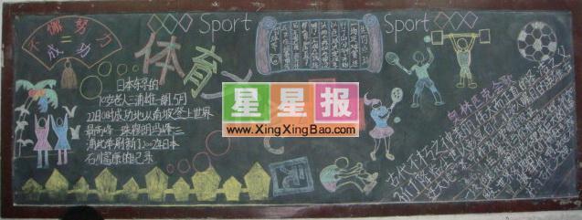 体育节黑板报 学校