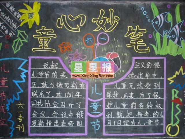 童心妙语黑板报设计
