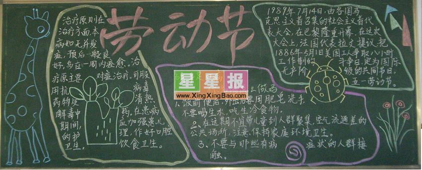 初一劳动节黑板报设计