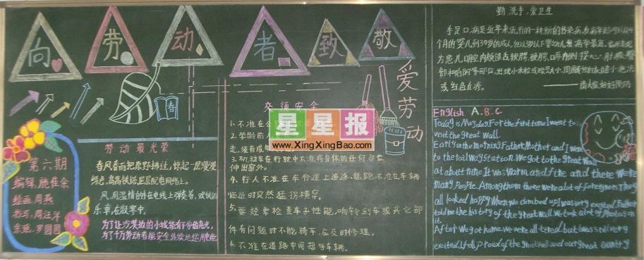 初一艺术节黑板报设计