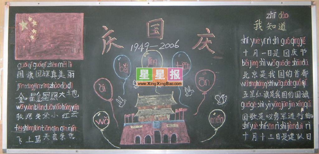 庆国庆板报图片作品