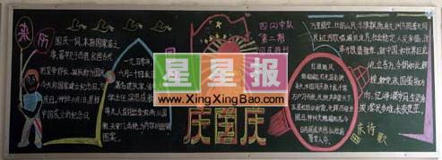 类 别: 国庆节黑板报 学 校: 许昌县五女店镇南街小学 版面设计: 范大