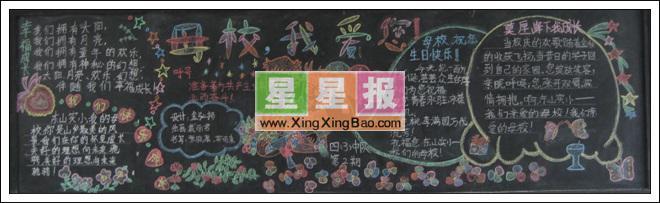 黑板报版面设计过程在周永涛老师的指导下完成