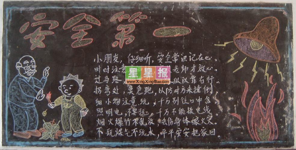 高中安全教育黑板報設計