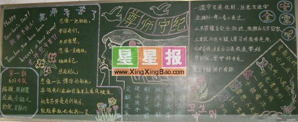 黑板报版面设计过程在林健秀老师的指导下完成.