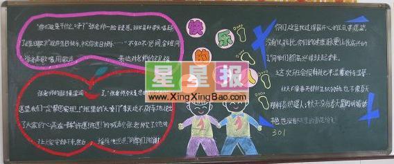 快乐的一家人黑板报设计