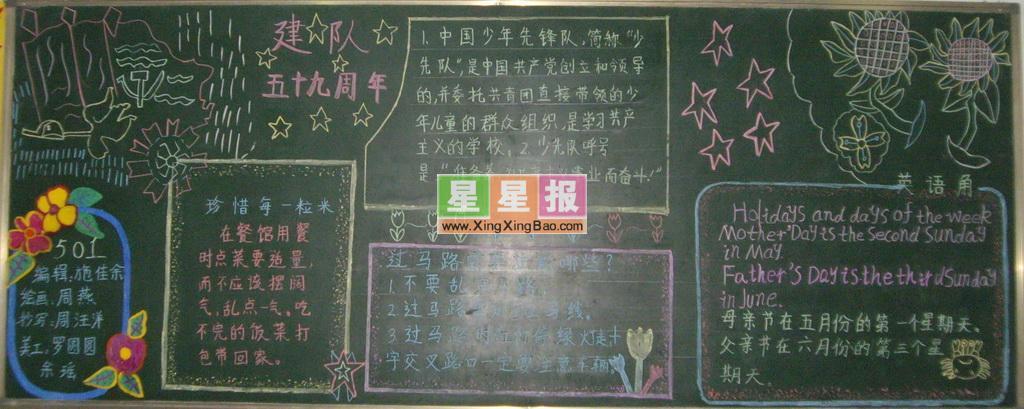 黑板报版面设计过程在何玉婷老师的指导下完成.