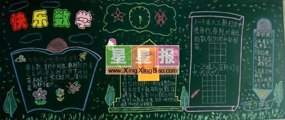 初中数学黑板报_快乐数学