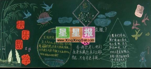 动物王国黑板报版面设计