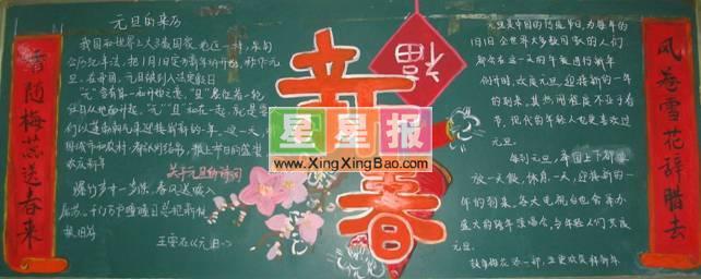 高中春节黑板报欣赏