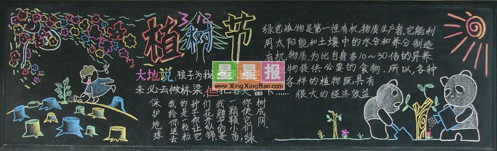 小学生植树节板报图片欣赏