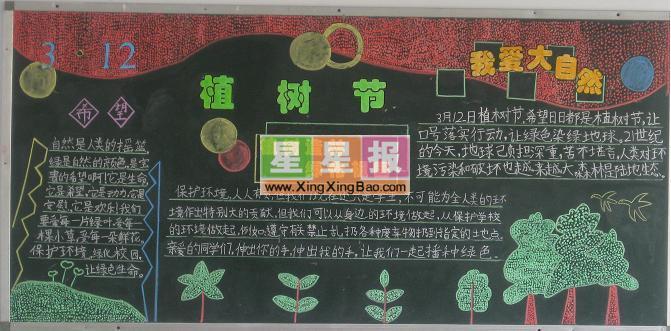 植树节黑板报图片_我爱大自然