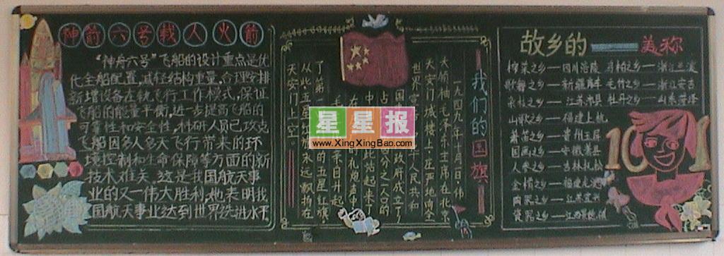 初中爱国主义黑板报作品图片