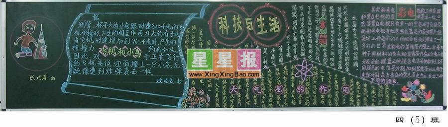 科技黑板报设计图_科技与生活