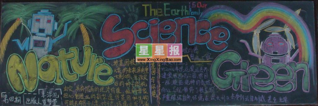 小学英语黑板报精美设计