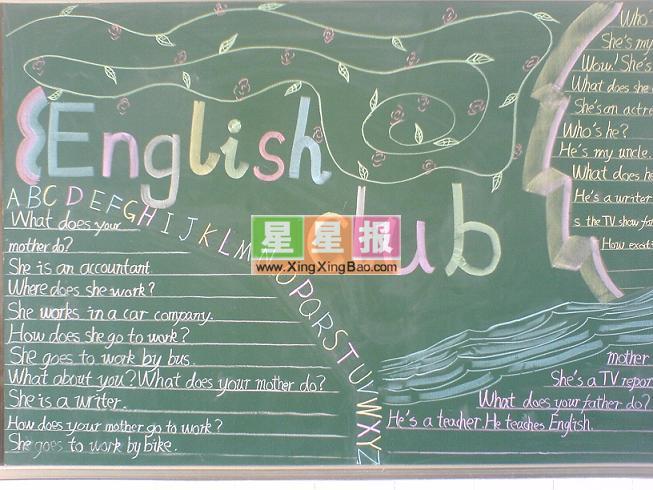 英语黑板报设计_english