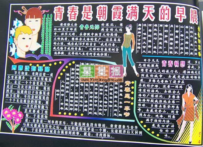 黑板报版面设计过程在李洪彬老师的指导下完成
