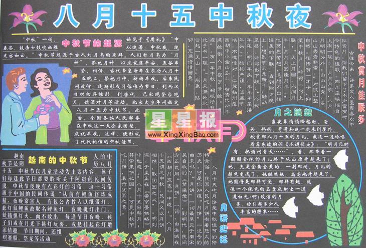 中秋节板报素材 中秋节背景素材