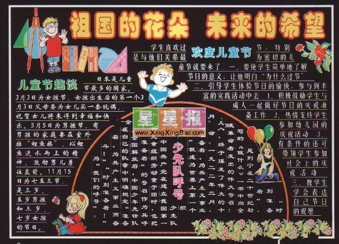 小学生儿童节板报设计图片