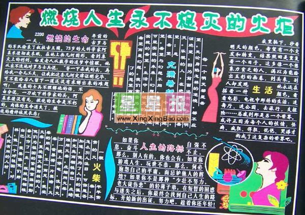 黑板报版面设计过程在刘亚东老师的指导下完成