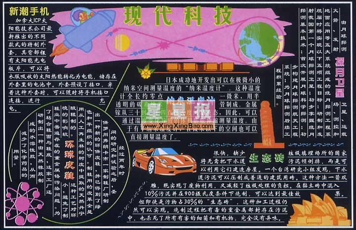 科技黑板报版面设计图_现代科技