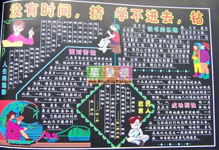 黑板报版面设计过程在李春秋老师的指导下完成