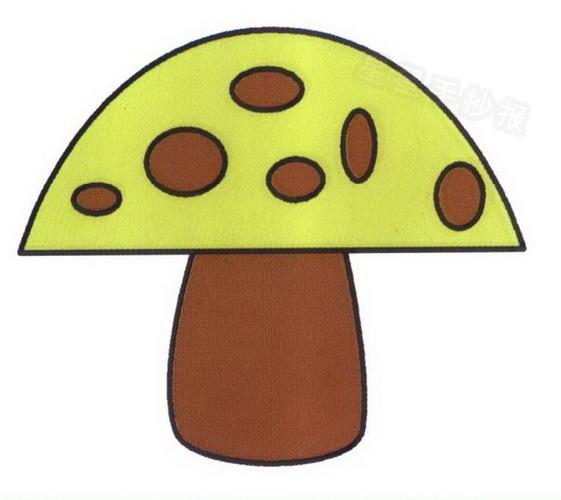 蘑菇简笔画教程
