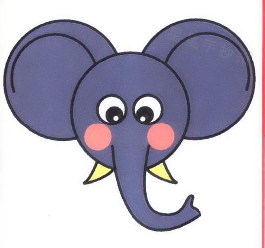 大象头像简笔画