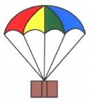 降落伞简笔画