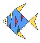 花纹鱼简笔画