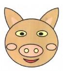 猪头头像简笔画