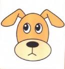 小狗头像简笔画