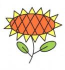好看的向日葵简笔画