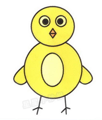 卡通小鸡简笔画图片教程