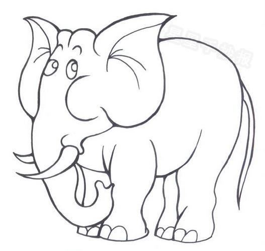 大象简笔画怎么画
