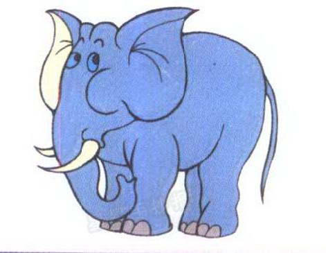 大象简笔画图片一