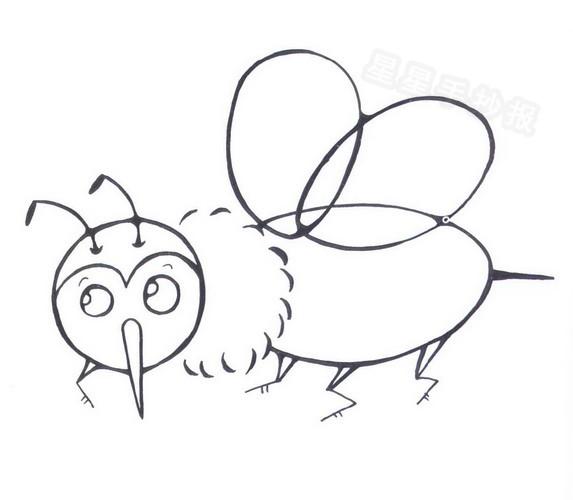 蜜蜂简笔画