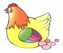 母鸡生蛋简笔画