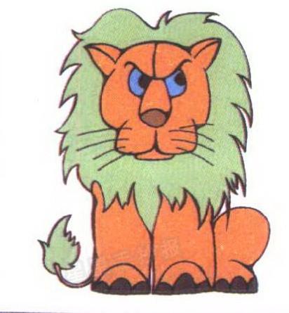 狮子简笔画