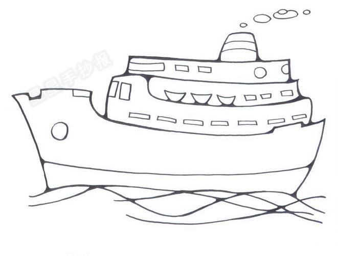 大轮船简笔画图片大全作品二