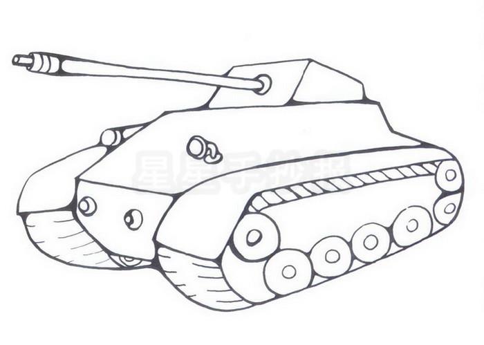 坦克简笔画