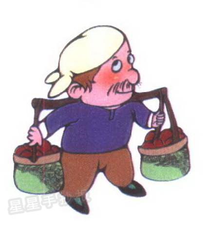 农民简笔画