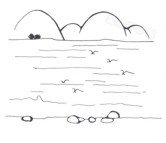 大海简笔画怎么画