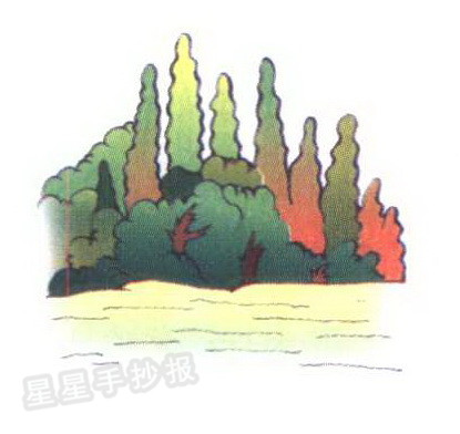 森林简笔画