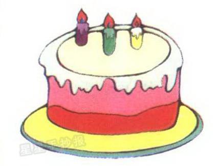 蛋糕简笔画