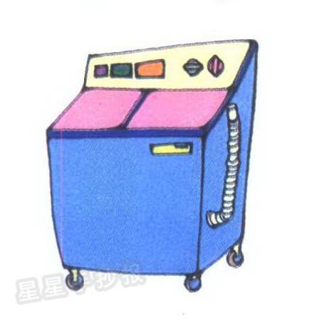 洗衣机简笔画图片