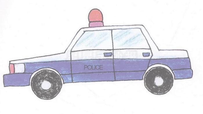 警车简笔画图片教程